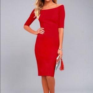 NWT Lulu's 3/4 Sleeve USA Made Midi Dress